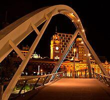 The Pedestrian Bridge  Melbourne by James  Key