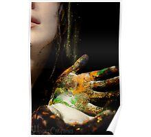 Falling Glitter Poster