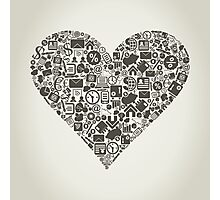 Business heart Photographic Print