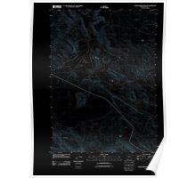 USGS Topo Map Oregon South Fork Reservoir 20110831 TM Inverted Poster