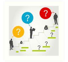 Business ladder3 Art Print