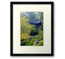 Asian garden  Framed Print