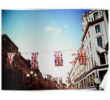 Bunting - Regent Street, London Poster