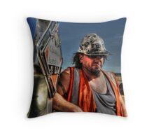 Working Class Man Throw Pillow
