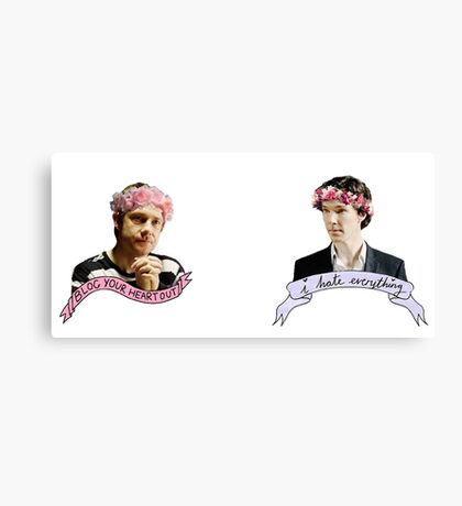 Sherlock and John together Canvas Print