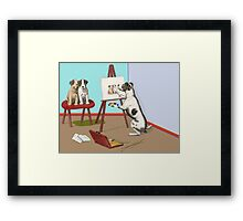 The Dogs of Art. Framed Print
