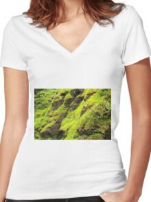 Greenery Women's Fitted V-Neck T-Shirt