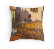 roof tiles florence Throw Pillow