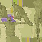 male nude studies yellow by David  Kennett