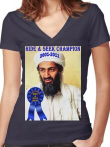 Hide & Seek Champion Women's Fitted V-Neck T-Shirt