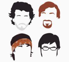 Flight of the Conchords Silly-ettes: 4-up Baby Tee
