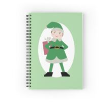 Boy Elf in Green Spiral Notebook