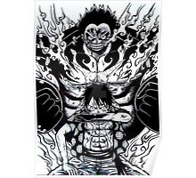 Luffy Gear 4 Poster