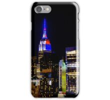 Empire State Building Lit in Blue iPhone Case/Skin