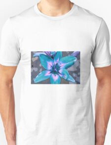 Photoshop Lily blue T-Shirt