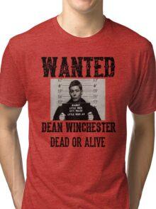 Dean Winchester Wanted Sign Tri-blend T-Shirt