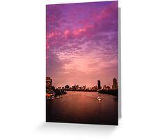 Charles River , Boston Greeting Card
