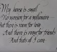 Commissioned calligraphic work by petejsmith