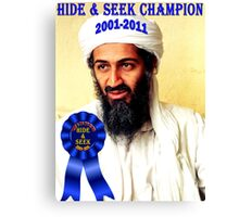 Hide & Seek Champion Canvas Print