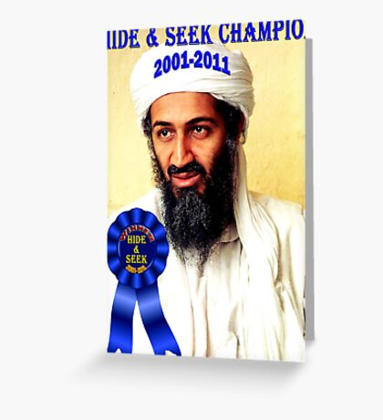 Hide & Seek Champion Greeting Card