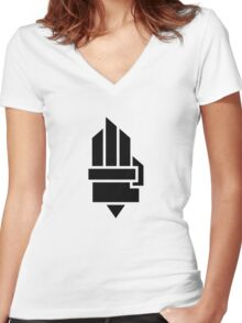 The Hunger Games - Hand (Light Version) Women's Fitted V-Neck T-Shirt