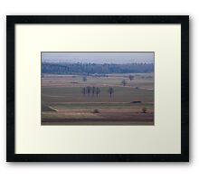 Early morning high above the earth Framed Print