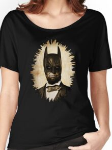 Batman + Abe Lincoln Mashup Women's Relaxed Fit T-Shirt