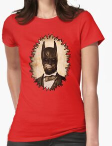 Batman + Abe Lincoln Mashup Womens Fitted T-Shirt