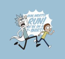 Rick and Morty On A Tshirt One Piece - Short Sleeve