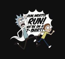 Rick and Morty On A Tshirt Kids Tee