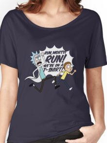 Rick and Morty On A Tshirt Women's Relaxed Fit T-Shirt