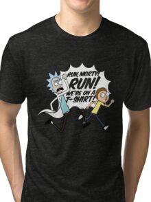 Rick and Morty On A Tshirt Tri-blend T-Shirt