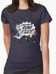 Rick and Morty On A Tshirt Womens Fitted T-Shirt