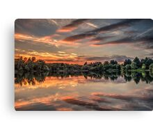 HDR Sunset at Tiddenfoot Canvas Print