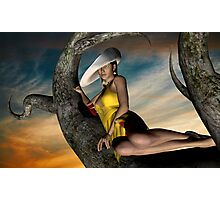 even ladies climb the trees ;) Photographic Print