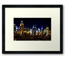Manhattan Nights - Skyline Series 2 Framed Print