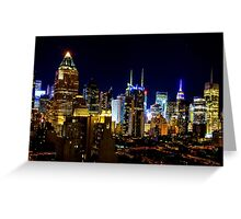 Manhattan Nights - Skyline Series 2 Greeting Card