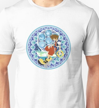 Kingdom Hearts Station (Blue) Unisex T-Shirt