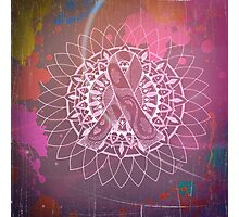 Red Multi Cancer Awareness Ribbon Photographic Print