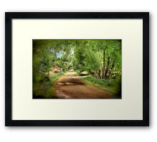 Paech Road - Paechtown, Hahndorf, South Australia Framed Print