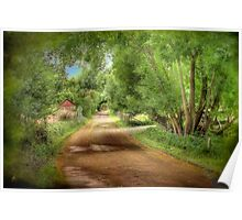 Paech Road - Paechtown, Hahndorf, South Australia Poster