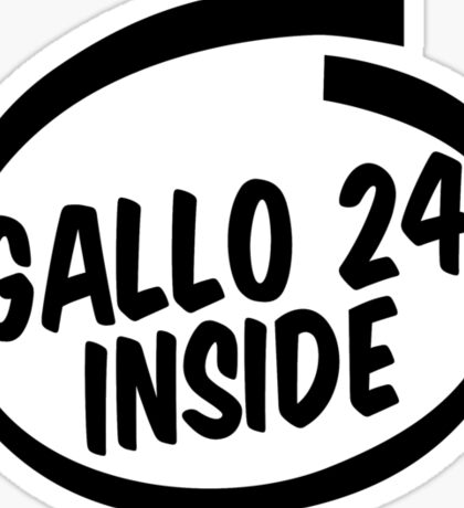 gallo 24 inside Sticker