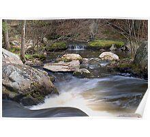 Twin Bridges Stream - Merrimack , NH Poster