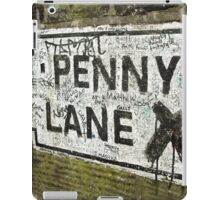 Old Penny Lane Sign iPad Case/Skin