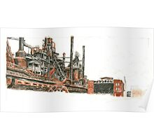 Bethlehem Steel Blast Furnaces and Blower House Poster