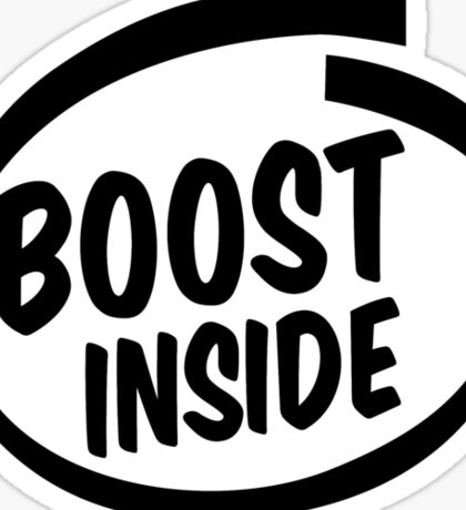 boost inside Sticker