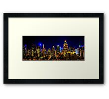 Nights in Manhattan _ Skyline Series 3 Framed Print