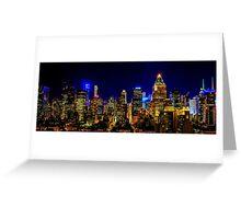 Nights in Manhattan _ Skyline Series 3 Greeting Card