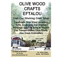Eftalou Olive Wood Shop Photographic Print