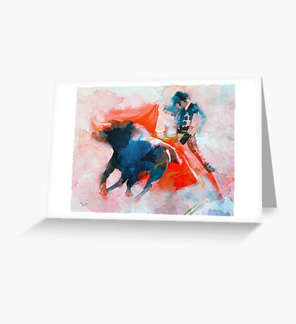 The clash of Power and Will Greeting Card